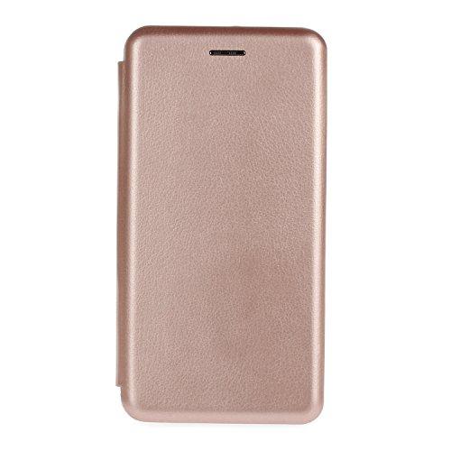 YHUISEN Solid Color Premium-PU-Leder und weicher TPU Gummischutz Mappen-Entwurfs-Flip Folio Case Schutzhülle mit Karten-Slot / Stand für Huawei P9 Lite ( Color : Black ) Rose Gold