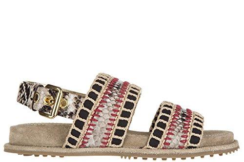 Car Shoe sandali donna originale pitone beige EU 38.5 KDX95L 3A4U F0187