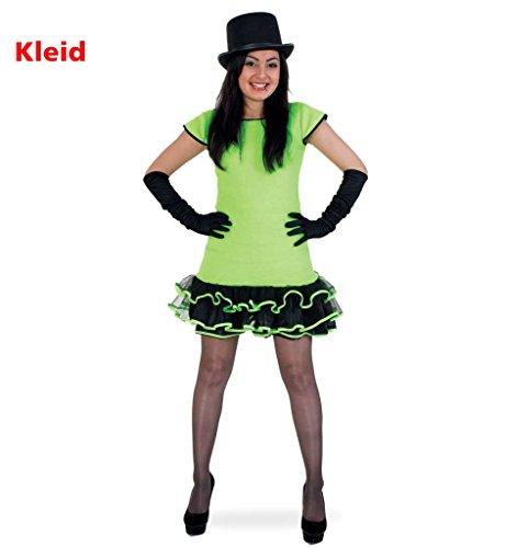 KarnevalsTeufel Damenkostüm Missy Green, Partyqueen, Teenagerkostüm, 1-tlg. Kleid -