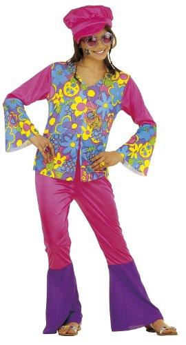 Imagen de chicas hippie niña 128cm disfraz pequeño 7.5 años 128cm para 60s 70s hippy vestido de lujo