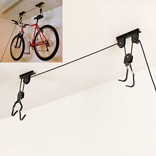 Magic Show Fahrrad Lift Deckenmontage Hoist Hängeverpackung Riemenscheibe Rack Garage
