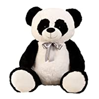 Lifestyle & More Giant Panda bear Cuddly bear XXL 100 cm big Plush bear Cuddly toy Panda velvety soft - for loving