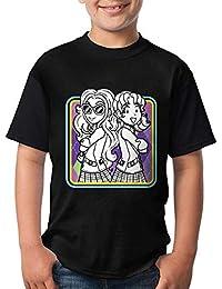 Kmehsv Niño Camisetas de Manga Corta, DORK Diaries Youth Short Sleeve T-Shirt Black 3D Printed Kid tee