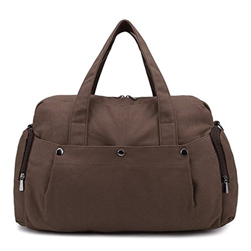 Outdoor peak Damen Canvas hochwertig Tagetasche Schultertasche Handtasche Daypacks Messenger Bag KuriertaschenFreizeittasche Reisetasche Schultasche Khaki