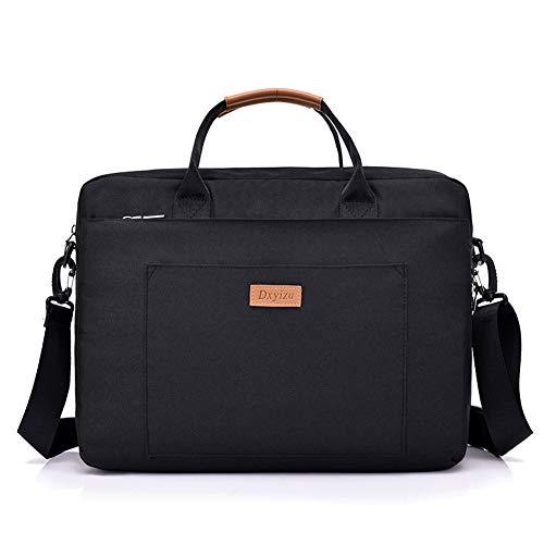 WYB Schultertasche Messenger Bag Business Laptop Tasche Oxford Tuch Material Geeignet Für Geschäftsreisen Im Freien,Black,15In
