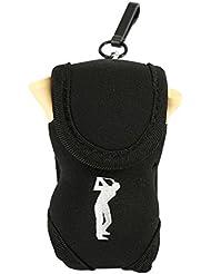Mini Sac Balle de Golf Sacoche de Ceinture Accessoires de Jeux de Golf Portable avec 2 Balles et 3 Tees