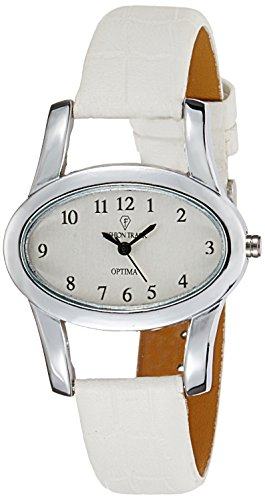 Optima FT-ANL-2472-WH Fashion Track Analog Watch For Girls