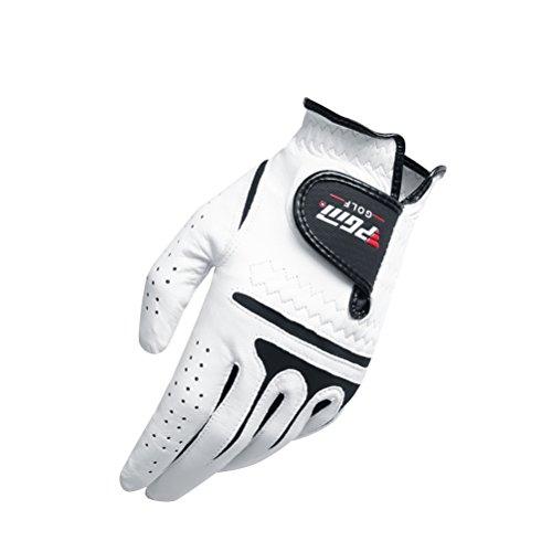 Preisvergleich Produktbild VORCOOL Golf Handschuhe Männer Left Hand synthetische und Cabretta Leder Golf Handschuhe Größe 26