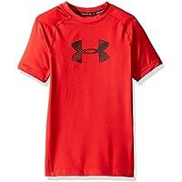 Under Armour SS Camisa de Manga Corta, niños, Rojo, YSM