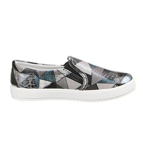 Scarpe Da Donna, Lb930-1, Mocassini Pantofole Nero Multi W-33-