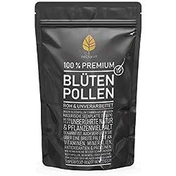 Blütenpollen von nectarvit I roh und unverarbeitet I 500 g I min. 24% Eiweiß I optimaler Vitamin- und Mineralienlieferant, hoch konzentrierte Dosis an Vitalstoffen und Spurenelementen