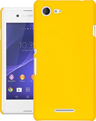 Cubix® Xperia E3 Dual Case, Super Slim Hard Back Cover for Sony Xperia E3 Dual Yellow  available at amazon for Rs.199