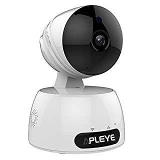 Apleye 1080P Wifi IP Security Camera, Home Video Surveillance System (US Edition) with Night Vision, Pan/ Tilt, 2 Way Audio, White