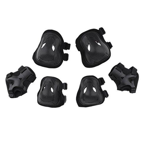 Unbekannt MagiDeal 6pcs Erwachsenen Sport Schutzausrüstung Set, 2 x Knieschützer, 2 x Ellbogenschützer, 2 x Handgelenkschutz für Rollschuhlaufen, Skateboard