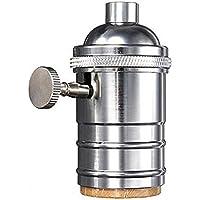 ZYE Vintage Edison Sockel E27Schraube Lampe Boden Lampe aus Kupfer Weiß
