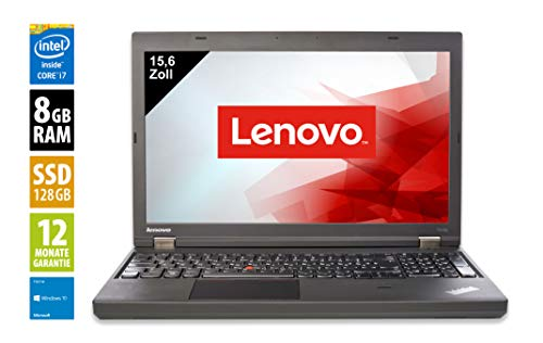 Lenovo ThinkPad T540p | Notebook | Laptop | 15,6 Zoll (1366x768) | Intel Core i7-4810MQ @ 2,8 GHz | 8GB DDR3 RAM | 128GB SSD | DVD-Brenner | Windows 10 Home (Zertifiziert und Generalüberholt) 2.8 Ghz Notebook