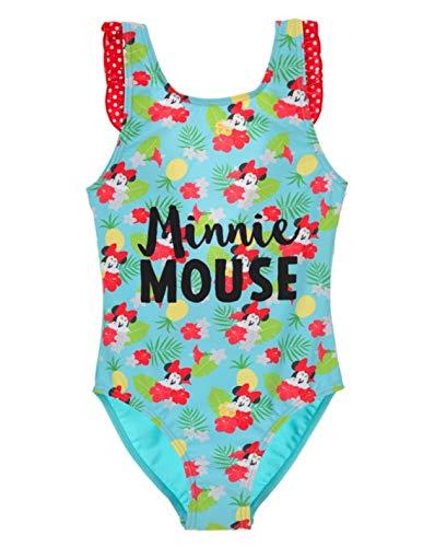 Bañador de 1 Pieza para niña de Minnie Disney Azul y Rojo de 3 a 8 años Azul/Rojo 3 años