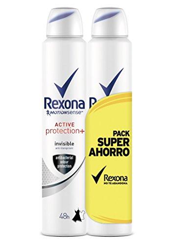 Rexona Desodorante Active Pro+ Invisible Mujer Ahorro - Paquete de 2 x 200 ml, Total: 400 ml