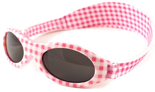 Baby Banz Girl's 01/APG Oval Sunglasses, Pink Gingham