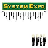 System Expo - lichtgordijn - koppelbaar - excl. Stekker - 3,00 x 0,40 m - 50 x warmwit