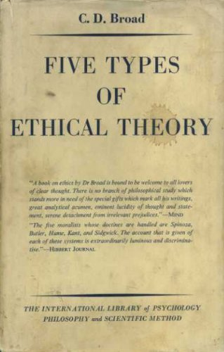 Five Types of Ethical Theory (International Library of Philosophy and Scientific Method) by Charlie Dunbar Broad (1971-06-30)