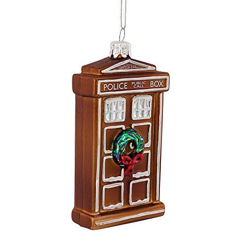 Kurt Adler 11,4cm Doctor Who Glas Lebkuchen Tardis Ornament -