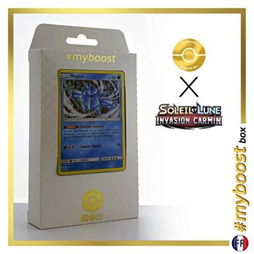 Regice 28/111 Holo - #myboost X Soleil & Lune 4 Invasion Carmin - Box de 10 Cartas Pokémon Francés