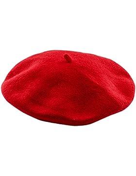 Interlink Boina Gorra de Punto Beret para Niñas Mujeres Sombrero de Cálido Otoño e Invierno Elegante