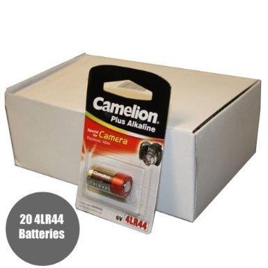 Camelion 20pk 4LR44 A544 A28PX 28A 7H34 6V Alkaline Batteries by Energizer Batteries 6v-energizer