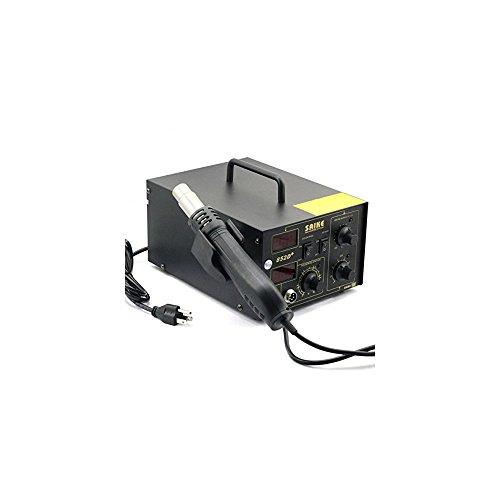 Vogvigo 2 in 1 Eisen Lötstation Entlöten Werkzeug 700 Watt Kit Netzteil Test Heißluftpistole Rework Station mit 4 Düsen