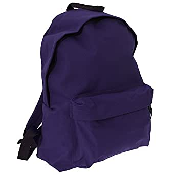 Bagbase Fashion Backpack / Rucksack (18 Litres) (One Size) (Plum)