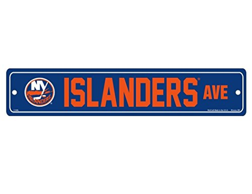 Wincraft NHL New York Islanders Full Color Straßenschild, 9,5 x 48,3 cm, Farbiges Straßenschild, 9,75 x Blau, 19