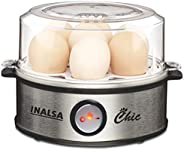 Inalsa Egg Boiler Chic-360W with 7 Egg Capacity (Black/Silver)