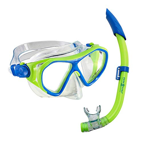 Aqua Lung Kinder Schnorchelset Combo Urchin JR. | Set Tauchmaske + Schnorchel | Jugendliche | Lime-blau