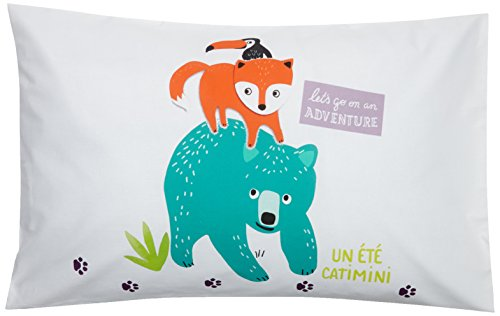 Catimini - Baroudeur Taie d'Oreiller Coton Blanc 50 x 75 cm