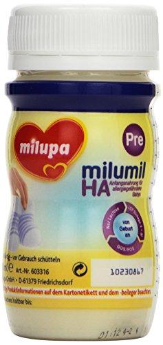 Milupa Milumil HA Pre Anfangsnahrung mit hydrolysiertem Eiweiß, trinkfertig 24x90ml -