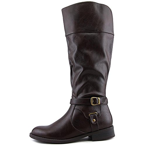 Nine West Leowm Rund Synthetik Mode-Knie hoch Stiefel Brown