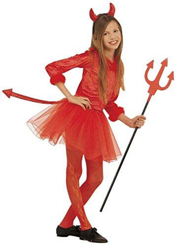 Kleiner roter Teufel Halloween Ballettröckchen Kostüm für Mädchen 146/158 (11-13 (Rote Halloween Kostüm Kleine Teufel)