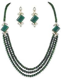 Shining Diva Stylish Kundan Wedding Party Wear Traditional Necklace Set / Jewellery Set With Earrings For Women