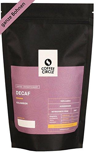 Coffee Circle | Premium Kaffee Decaf | 350g ganze Bohne | Entkoffeinierter Filterkaffee mit...