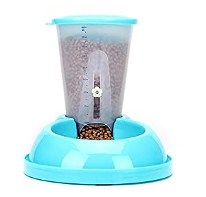Distributeur automatique de nourritures capacité de 1800ML gamelle bol de croquettes avec échelle pour chiens et chats