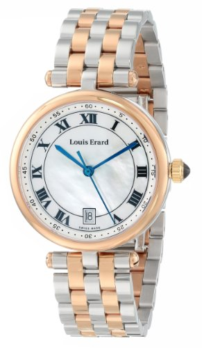 LOUIS ERARD ROMANCE 11810AB04.BMA27 LADIES 33MM DATE SAPPHIRE GLASS WATCH