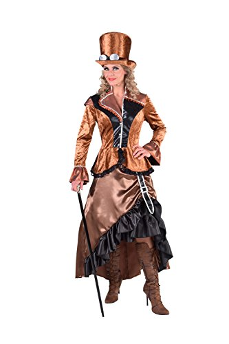M217114-XL Damen Steampunk Kostüm-Kleid bronze-braun Gr.XL