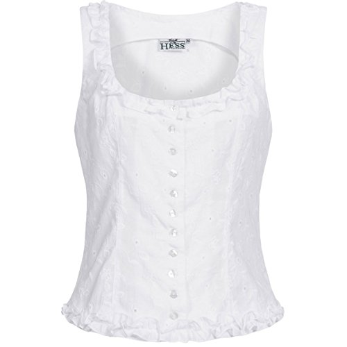 Hess TrachtenMieder Moni in Weiß, Größe:34, Farbe:Weiß