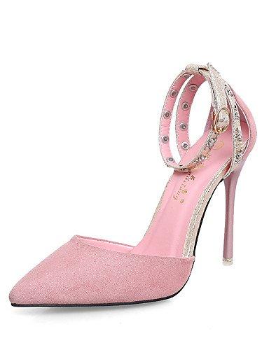 LFNLYX Scarpe Donna-Sandali-Formale-Tacchi / A punta / Chiusa-A stiletto-Scamosciato-Nero / Rosa / Borgogna Black