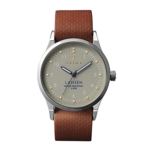 Triwa - - Homme - Montre Dawn Lansen Bracelet Nato cuir marron pour homme - TU