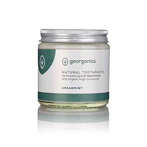 Georganics natürlich biologische Kokosölzahnpasta- grüne Minze 120 ml / Remineralizing Natural Organic Coconut Oil Toothpaste - Spearmint 120ml