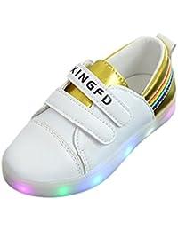 Baby Schuhe Turnschuhe LED-Beleuchtung Blinken Loafer Freizeit Mädchen Glitzer