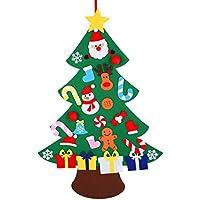 Xunlong Conjunto de árbol de Navidad de Fieltro con Adornos Decoración de árbol de Navidad de Colgante de año niños (A)