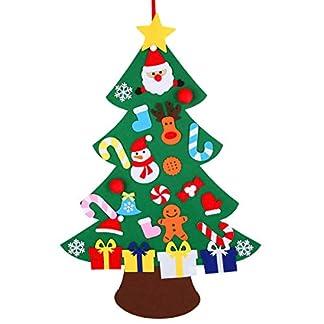 Xunlong Calendario de Adviento de Navidad árbol de Navidad de Fieltro Cuenta Regresiva para Navidad Puerta de Pared Colgante decoración niños